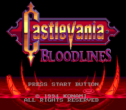 Image result for Castlevania Bloodlines title screen