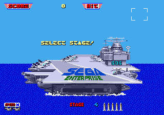 Afterburner II Genesis Level Select.png