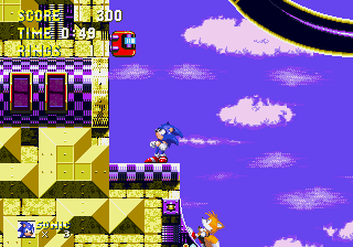 Betcha can't get up here, Tails!