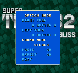 Super Tetris 2 + Bombliss (SNES) - The Cutting Room Floor