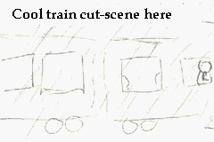 Features realistic-looking train cutscene drawings!