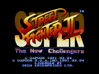 Super Street Fighter Ii The New Challengers Genesis The