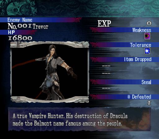 Castlevania Curse Of Darkness Playstation 2 Unused Bestiary
