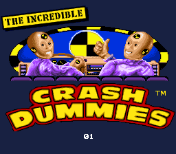 Incredible Crash Dummies SNES Level Select.png