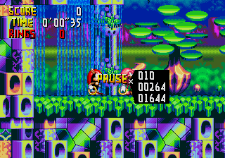 Knuckles Chaotix Debug Display.png