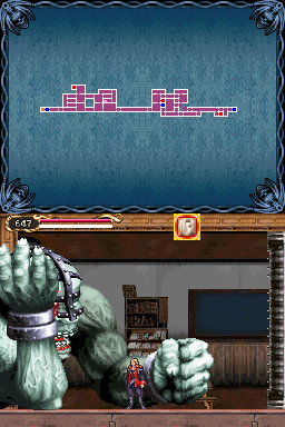 The steel door belongs to a part of Balore, only appears in Dawn of Sorrow. Balore himself does appear in the game, but since he is located at one single room in Nest of Evil and Boss Rush mode, there's no chance to see the steel door.