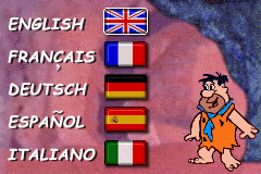 Flintstones, The - Big Trouble in Bedrock U E GBA US Unused Language Sel.png
