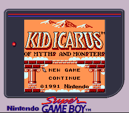 Kid Icarus - Of Myths and Monsters SGB Palette Title.png