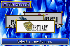 Stupid bestiary option, where's FF3?!
