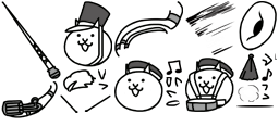 The Battle Cats Drumcorps Cat Unused Sprites.png
