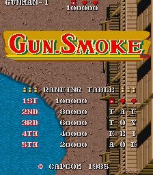 Gun Smoke Arcade The Cutting Room Floor
