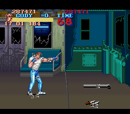 Final Fight SNES hitbox debug display.png