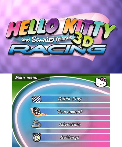 80dca846c Hello Kitty and Sanrio Friends 3D Racing (Nintendo 3DS) - The ...