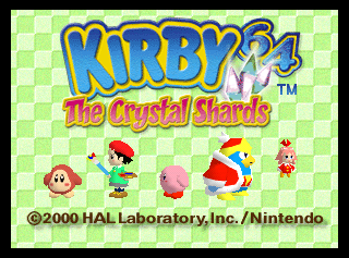 Can Someone Please Font Used In The Kirby 64 Logo Especially The Crystal Shards Part Identifythisfont