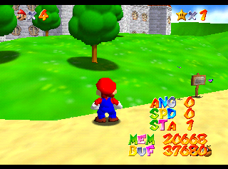 Super Mario 64 (Nintendo 64)/Debug Content - The Cutting