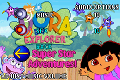 Dora the Explorer - Super Star Adventures! (USA) Unused Audio OPTIONS SELECT.png