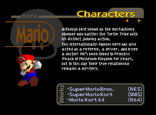 Why did they put spaces between words in Mario Kart 64 but not in the other ones?