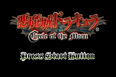Akumajou Dracula - Circle of the Moon (Japan) title.png