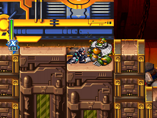 You die if you stop crouching while under the compactor. Mega Man must stand up REALLY fast.