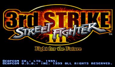 street fighter vs screen blank