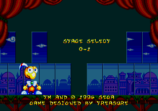 Dynamite Headdy Genesis Stage Select.png
