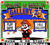 game /u0026 watch gallery 2 game boy color