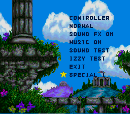 Izzy's Quest for the Olympic Rings SNES Level Select.png