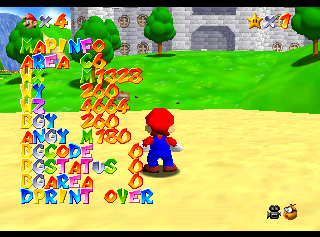 Super Mario 64 Nintendo 64 Debug Content The Cutting Room Floor