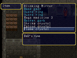 If it's Bell's rune, why isn't she using it?