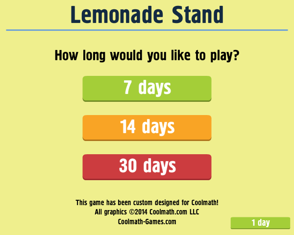interactive supply demand activity lemonade stand Students use this online interactive activity from econedlink to students play the lemonade stand game by explain how supply and demand affect the price of.