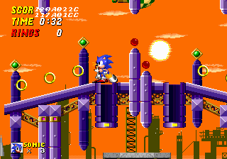 The level design was copied from Simon Wai to the final version of Sonic 2 so that the objects were placed correctly.