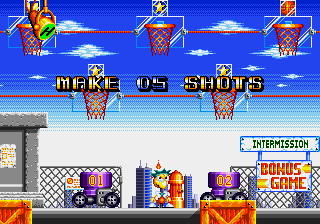 Shots of wha-Oh, I'm supposed to shoot the basketballs into the hoops.