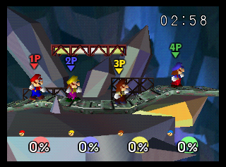 The size of this stage makes Metal Mario's fight easy. Now imagine a battle with four players here...