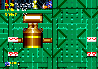 Sprites Always on Top enabled in Gens.