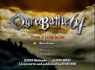 Ogre Battle 64: Person of Lordly Caliber - The Cutting Room