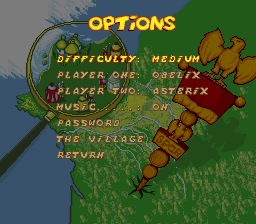 Asterix & Obelix Stage Select Options.png