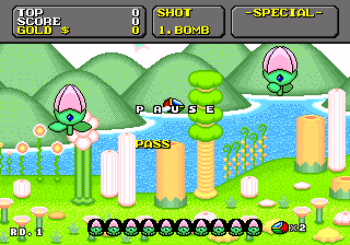 Super Fantasy Zone Plays on US consoles