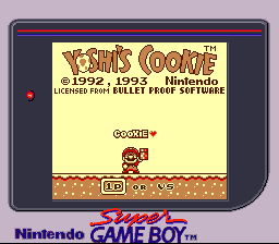 Yoshi's Cookie SGB Palette Title.png