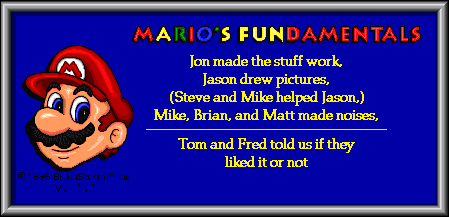Mario's Game Gallery (Mac OS Classic) - About FUN.png