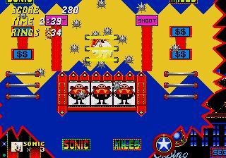 Proto Sonic The Hedgehog 2 Genesis Beta 4 To Beta 8 Casino Night Zone The Cutting Room Floor