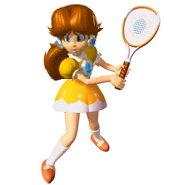 N64 Mario Tennis Daisy art and the cropped portion in LM to the left.