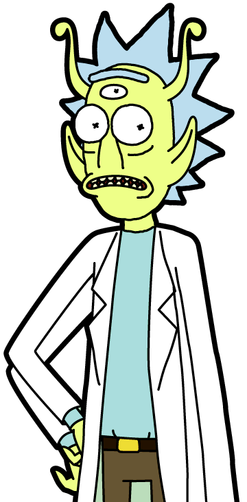 Pocket Mortys-Alien Rick-4 Arms-Front.png