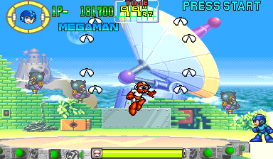 Cutman in mid-air firing a set of 8 Rolling Cutters
