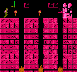Second pink level; Decorative door.