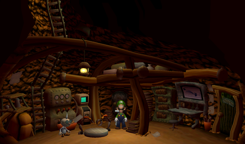 Luigi S Mansion Room Near Gallery