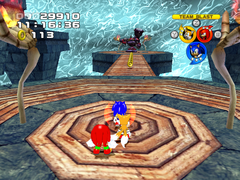 Team Sonic in an unused area in Mystic Mansion.