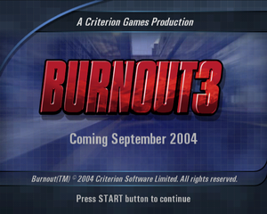 Proto:Burnout 3: Takedown - The Cutting Room Floor