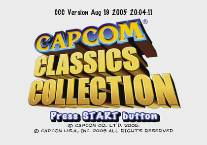 CapcomClassicsCollection1 - Debugmode1.png