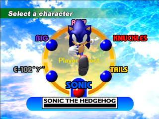 Sonic Adventure DX (PC, 2004) Trial Character Select.png