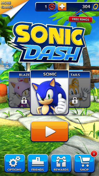 Sonic Dash (iOS) 2014-title.png